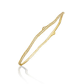 18K Gold Wonderland Eternity Pave Diamond Twig Bangle