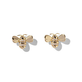 18K Gold Wonderland Diamond Bee Stud Earrings