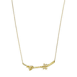 18K Gold Wonderland Stackable Bird and Butterfly Twig Necklace