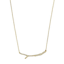 18K Gold Wonderland Twig and Diamond Necklace