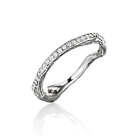 18K Gold Wonderland Stackable Diamond Eternity Twig Ring