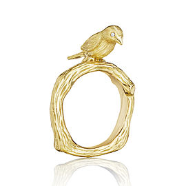 18K Gold Wonderland Stackable Love Bird Ring
