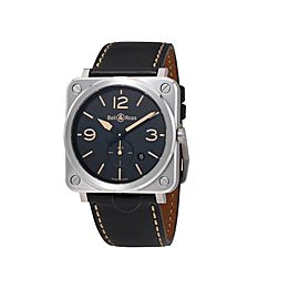 Bell & Ross Heritage BRS-HERITAGE Carbon Finish Mens 42mm Watch