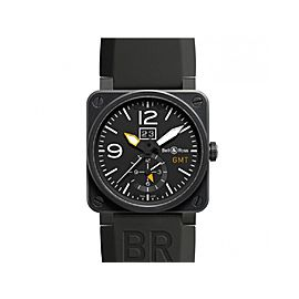 Bell & Ross GMT BR03-51-GMT-CARB Carbon Case Mens 42mm Watch