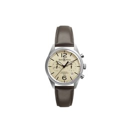 Bell & Ross Vintage BR126-BEIGE-CALF Stainless Steel Mens 41mm Watch