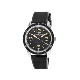 Bell & Ross Vintage BR123-ORG BLK Carbon Finish Mens 43mm Watch