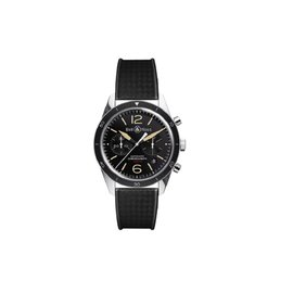Bell & Ross Vintage BR126-BLK-CALF Carbon Finish Mens 41mm Watch