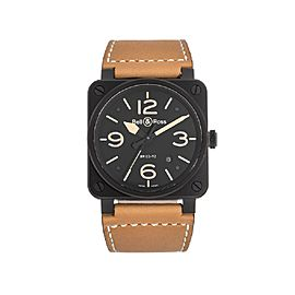 Bell & Ross Desert BR03-92 DESERT T Black PVD Mens 42mm Watch