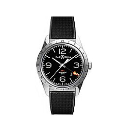 Bell & Ross GMT BR 123-GMT-RUBBE Stainless Steel Mens 43mm Watch