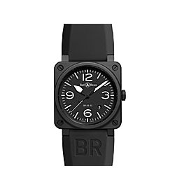 Bell & Ross Aviation BR03-92-BLACK Black PVD Mens 43mm Watch