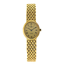 Baume & Mercier 18K Yellow Gold Vintage 22mm Womens Watch