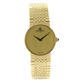 Baume & Mercier 14K Yellow Gold Vintage Womens Watch