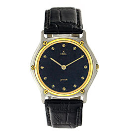 Ebel Wave EBL9 Two Tone 18K Yellow Gold & Stainless Steel Mens Watch