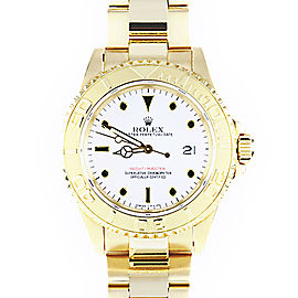 Rolex Yacht Master 18K Gold White Dial 40mm Mens Watch
