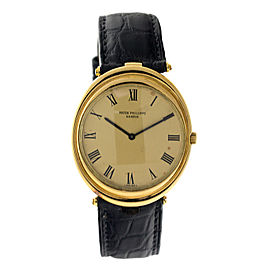 Patek Philippe PP19 18K Yellow Gold Oval Vintage Automatic Mens Watch