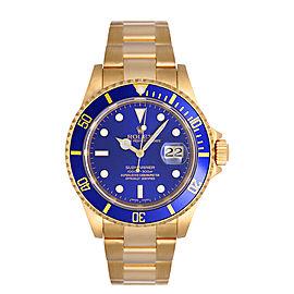 Rolex Submariner 16618 Blue Mens Watch