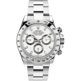 Rolex Daytona 116520 Steel White Mens Watch