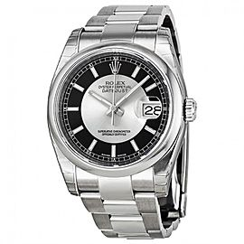 Rolex Datejust 36 Stainless Steel Watch Silver & Black Dial 116200