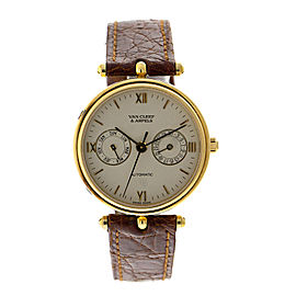 Van Cleef & Arpels VCA5 Day-Date 18K Yellow Gold Automatic Mens Watch