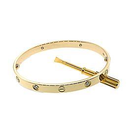Cartier 18K Yellow Gold 4 Diamond Love Bracelet - New Locking mechanism