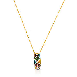 Le Vian Certified Pre-Owned Multi Colored Diamonds Pendant
