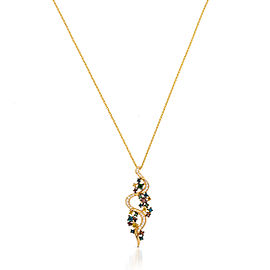 Le Vian Certified Pre-Owned Exotics Vanilla Diamonds, Goldenberry Diamonds, Kiwiberry Green Diamonds, Cherryberry Diamonds, Blueberry Diamonds Pendant set in 14k Honey Gold