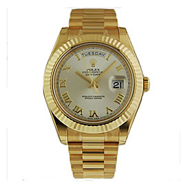 Rolex Day-Date II President 218238 Silver Roman Dial 41mm Watch