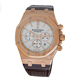 Audemars Piguet Royal Oak Chronograph 18K Rose Gold & Leather Automatic 41mm Men's Watch