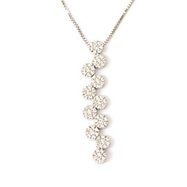 Damiani 18K White Gold with Diamond Pendant Necklace