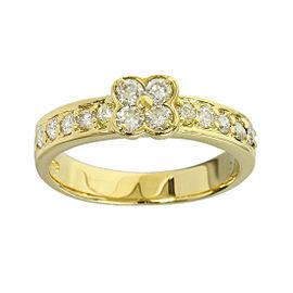 Ponte Vecchio 18K Yellow Gold 0.40ct. Diamonds Band Ring Size 4.5