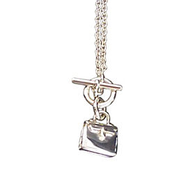 Hermes 925 Sterling Silver Pendant Necklace