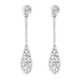 14K White Gold Diamond Tear Drop Earrings