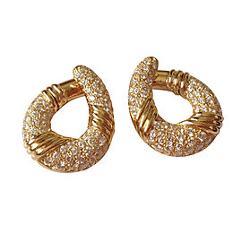 Van Cleef Arpels 18K Yellow Gold Diamond Earrings