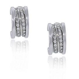 Bvlgari B.Zero1 18K White Gold Pave Diamond Earrings OR851274 L