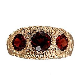 14K Yellow Gold with 2.20ct Garnet Ring Size 8.5