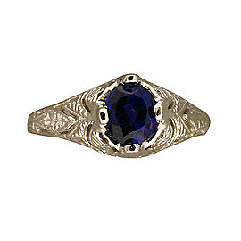 Platinum with 1.62ct. Sapphire Ring Size 7.25