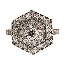 Platinum 0.50ct Diamond Ring Size 9.75