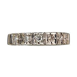 Art Deco 14K White Gold 0.18ct Diamond Ring Size 5.75