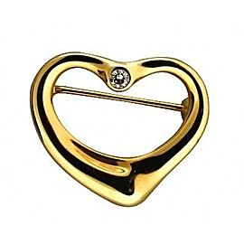 Tiffany & Co. Else Peretti 18K Yellow Gold with 0.05ct. Diamond Heart Pin Brooch