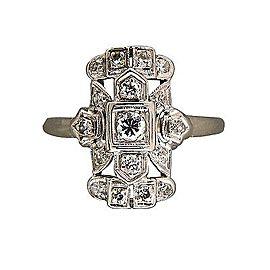 Vintage Art Deco Platinum with 0.18ct Diamond Ring Size 7.75
