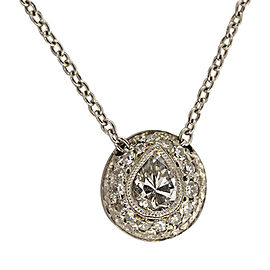 Platinum 0.43ct Pear Diamond Pendant