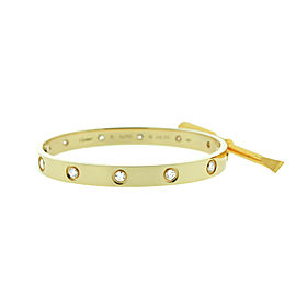 Cartier Love Bracelet 18K Yellow Gold 10 Diamond Size 16
