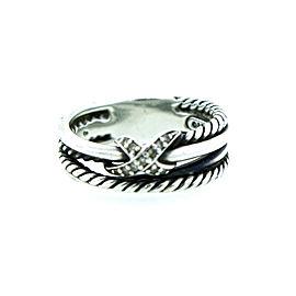 David Yurman X Crossover Ring With Diamond