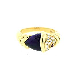 Bulgari Amethyst Ruby Diamond Yellow Gold Naturalia Fish Ring