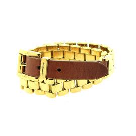 Michael Kors Gold Double Wrap Watch Link Bracelet