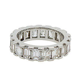 Emerald Cut 4.39ctw Diamond Eternity Ring Size 5.5