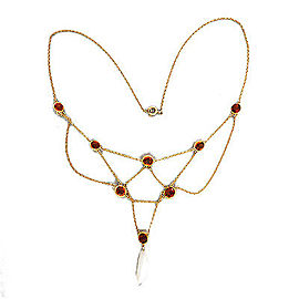 14K Yellow Gold with Citrine & Pearl Necklace