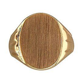Vintage Yard 14K Yellow Gold Signet Ring Size 9