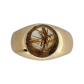 18K Yellow Gold with 2.50ct Quartz Ring Size 8.5
