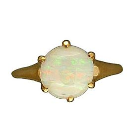 14K Yellow Gold with Opal Ring Size 5.75